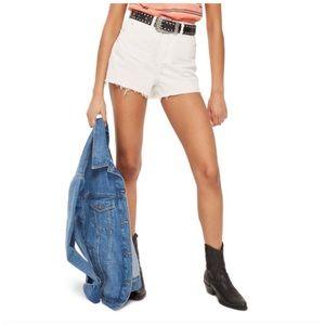 Topshop Mom Denim Shorts